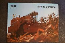 Vintage Massey Ferguson MF 540 Combine Brochure  -   1979