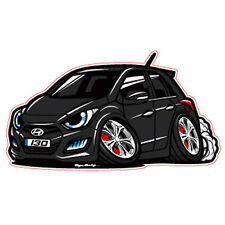 Character Sticker 6p 1set Black Bean For 12 13 Hyundai Elantra GT : New i30