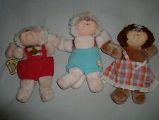 VINTAGE 1980S CABBAGE PATCH KIDS WYKOOSA VALLEY KOOSAS CPK DOLL LOT OF 3 COLECO