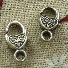 Free Ship 60 pieces tibetan silver nice lobster clasps 17x8mm L-1338