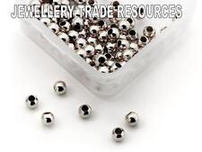 SMALL 1.8mm STERLING SILVER CRIMP BEADS BEADING & PEARL CRIMPING