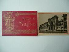Libretto Ricordo Vedute Cromolitografiche Milano fine  '800 La Scala Galleria