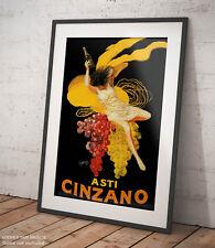 🍾 Poster Cappiello Asti Cinzano vintage bar pub Stampa Fine Art di Pregio 🍷