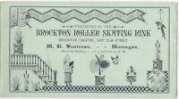 1880 Brockton Massachusetts Roller Skating Rink Folding Business Card