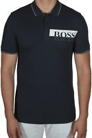 Hugo BOSS Paule Pro Men's Polo Shirt Short Sleeve Slim Fit 50389022 410 Navy