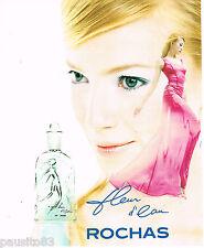 PUBLICITE ADVERTISING 065  1996 ROCHAS parfum femme FLEUR D'EAU