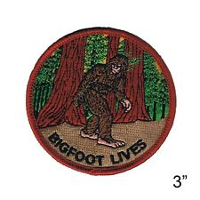 "Bigfoot Lives Iron On Patch by Fuzzy Dude 3"" Free Shipping 2296"