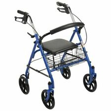 Drive Medical Rollator Walker Adult Senior with 4 Wheel 7.5in Casters Blue