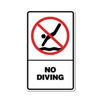 No Diving Sticker No Diving Sticker prohibited signage. 7763