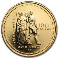 1976 Canada 1/4 oz Gold $100 Olympic BU - SKU #59790