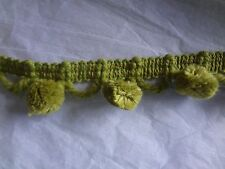 "80 Yards Vintage Avocado Green Small Pom Pom 1"" Trim"
