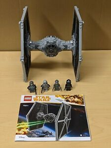 Lego Star Wars Tie Fighter 75211 Complete (Except 3 Projectiles) w Minis & Instr