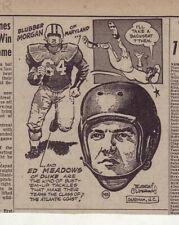 1953 newspaper panel  - Blubber Morgan of Maryland, Ed Meadows of Duke, football