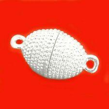Magnetverschluss Olive 20 mm Farbe Silber 2 Stück Verschlüsse nenad-design AN193