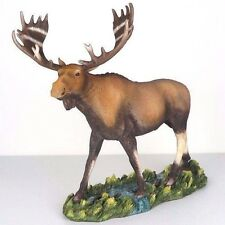 "Moose in the Stream Figurine Miniature Statue 13""L New in Box"