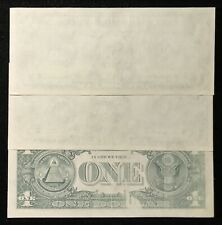 3 CONSECUTIVE 1977A $1 FEDERAL RESERVE NOTE ERROR MISSING PRINT *RARE SET! CU013
