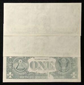 3 CONSECUTIVE 1977A $1 FEDERAL RESERVE NOTE ERROR MISSING PRINT *RARE SET! CU013