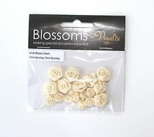 WEDDING FAVOURS  Ribtex Vivaldi Cream Satin Grub Roses 18 pcs FREE POSTAGE