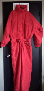 Vintage 1st Down XL Red Snowsuit And Hoodie Made In Hong Kong