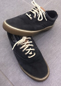 Sperry Top Sider Size 9 Mens Navy Fabric Boat Shoes 🔥
