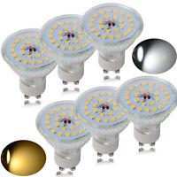 8/4x GU10 7W=50W-60W SMD LED Bulbs Lamps Spot Light Bulb Warm / Day White Lamp