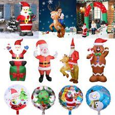 1.8/2.4M Inflatable Christmas Archway Santa Snowman Xmas Decor LED Light Outdoor