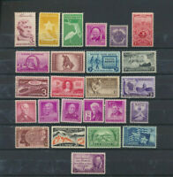 25 Different Old Time 3 Cent USA Mint Never Hinged Commemorative Stamps.