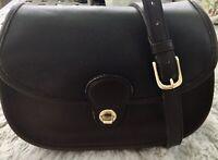 Vintage Coach Prairie Mocha Brown Leather Crossbody Hippie Shoulder Bag 9954