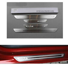 Stainless slim Door Sill Scuff External Plate For VW Volkswagen Golf 6 MK6 4Pcs