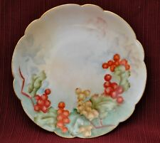 """Limoge 6.25"""" Round Dish With Scallop Edge Signed by Artist"""