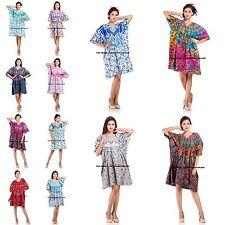 Indian Mandala Gown Women Caftan Dress Beach Bikini Cover Up Kaftan Nightwear