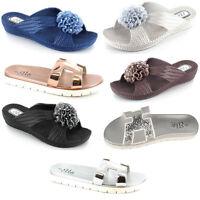 WOMENS LADIES Sandals FLIP FLOPS OPEN TOE FLAT SUMMER BEACH COMFY UK 3,4,5,6,7,8