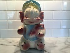 Vintage American Bisque Baby Elephant Cookie Jar USA