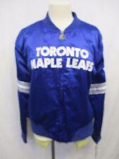 Toronto Maple Leafs Women's 2XL Starter Full Zip Satin Jacket NHL Blue A15MLM