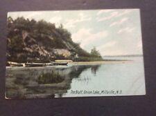 THE BLUFF, UNION LAKE, Millville, New Jersey Postcard Circa 1907