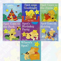 Eric Hill 7 books Set Collection Spot Lift the Flap Series (Spot Says Goodnight)