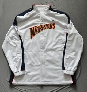 GOLDEN STATE WARRIORS Reebok Warmup Jacket We Believe 2003/04 Style White XL-T