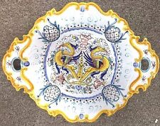 Deruta Pottery-12x15inchOval Centerpiece-Raffaellesco Made/Painted by hand Italy