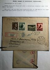 1944 Okern Norway Chemical Censorship Cover To Oegstgeest Holland Sc#B35-7