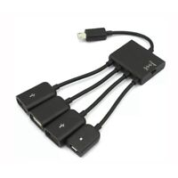 4 in 1 Type c Male to Micro Female USB Power Charging Host OTG Hub Adapter Cable