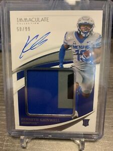2021 Panini Immaculate Collegiate KENNETH GAINWELL ROOKIE PATCH AUTO /99 RPA