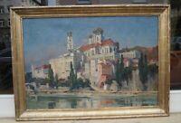 Theodor Walz (1892 - 1972) - Passau - Blick vom Inn auf Altstadt - Renzrahmen