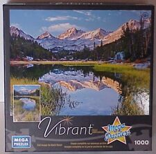 """Mega Puzzle Jigsaw 1000 piece """"High Sierra Reflections"""" used one time"""
