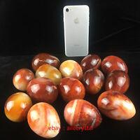 wholesale~Natural Carnelian Egg Shape Quartz Crystal Egg Reiki Healing 1pc