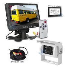 """Kit Retromarcia Monitor 7"""" e Telecamera posteriore per Camper Furgone Cavo 10 MT"""