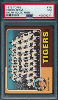 1975 Topps Set Break # 18 Tigers Team Ralph Houk Manager PSA 7 *OBGcards*