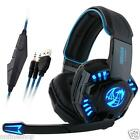 Noswer Professional Gaming Headset LED Light Earphone Headphone with Mic Lot NEW