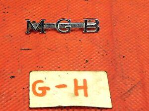 """MGB, Chrome """"MG-B""""  Insignia, Original, !!"""
