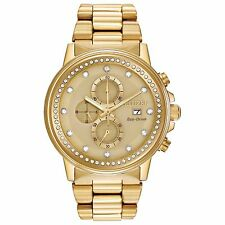 Citizen Eco-Drive Unisex FB3002-53P Nighthawk Crystal Accents Gold Tone Watch