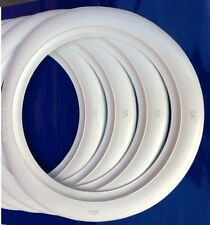 """2"""" WIDE WHITE WALL TIRE TRIMS PORT A WALL SET For 15"""" WHEEL and TIRE HOT ROD"""